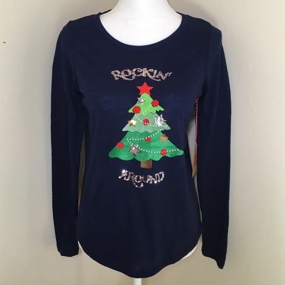 0ed359dcd Poof! Tops | Nwt Poof Ugly Christmas Long Sleeves Tee S | Poshmark